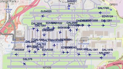 airport viewer overlay