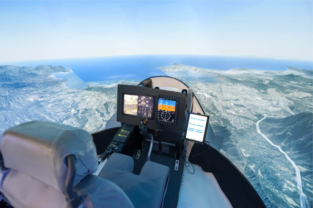 aviation modeling and simulation cockpit image