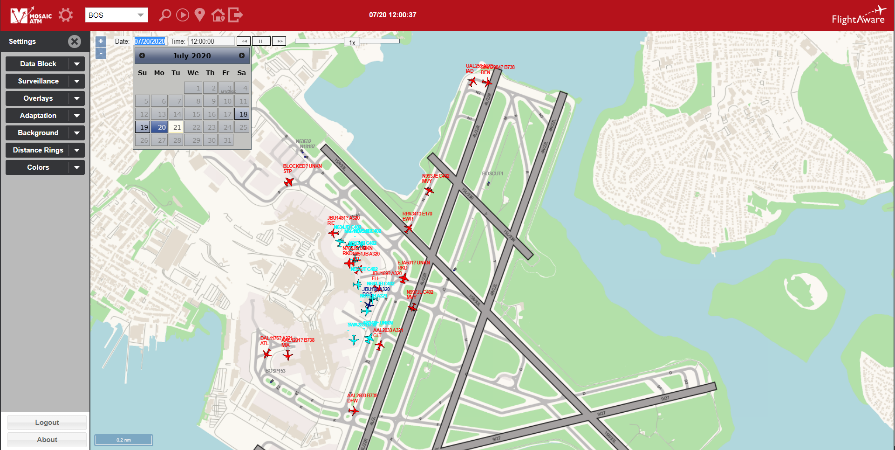 Machine Learning Airline Services Airport View Dashboard with predictions
